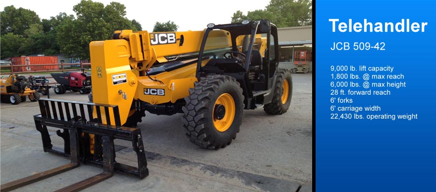 Telehandler Rental galveston